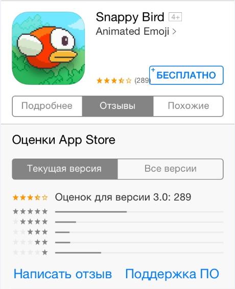 отзыв в App Store