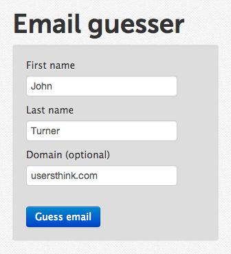 поиск человека через Email Address Guesser