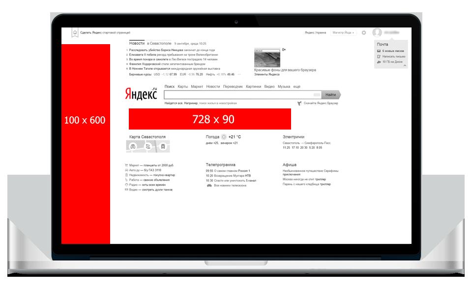 Стоимость и окупаемость рекламы на главной странице Yandex