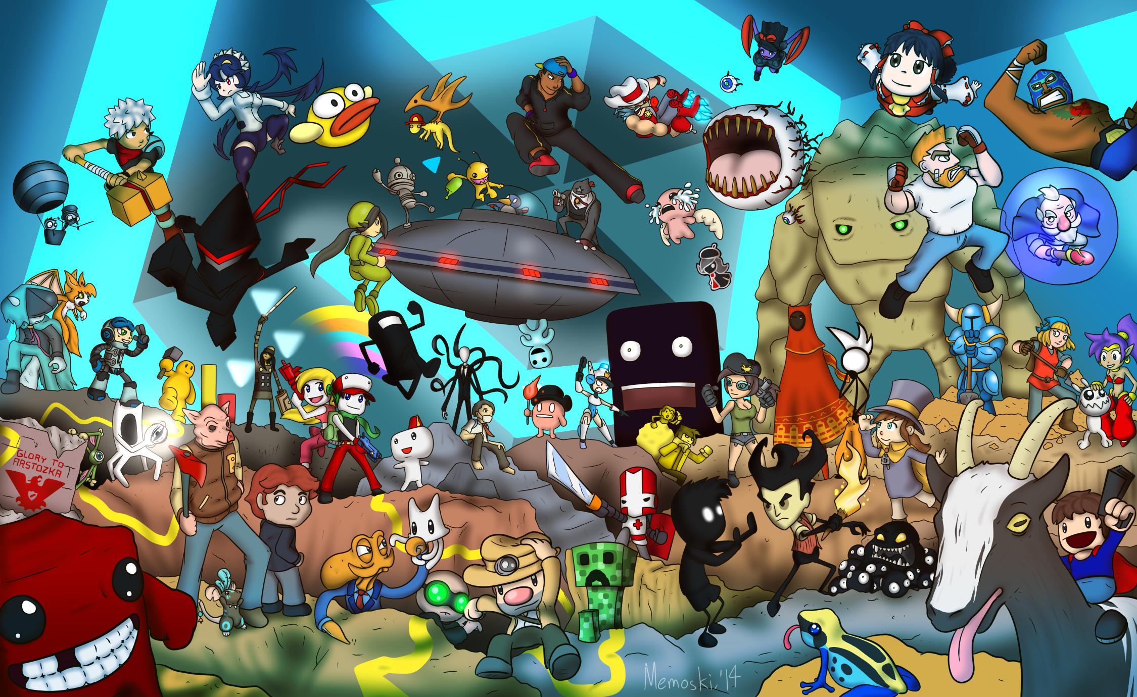 много персонажей на одной картинке из игры английские