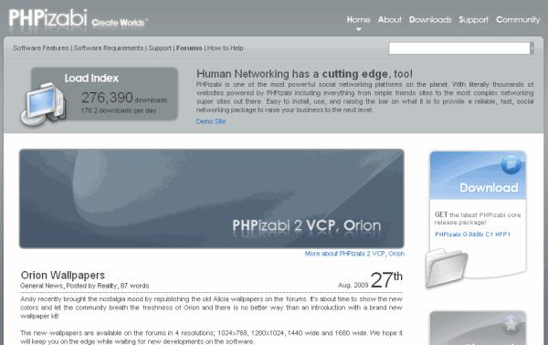 движок PHPizabi для социальных сетей